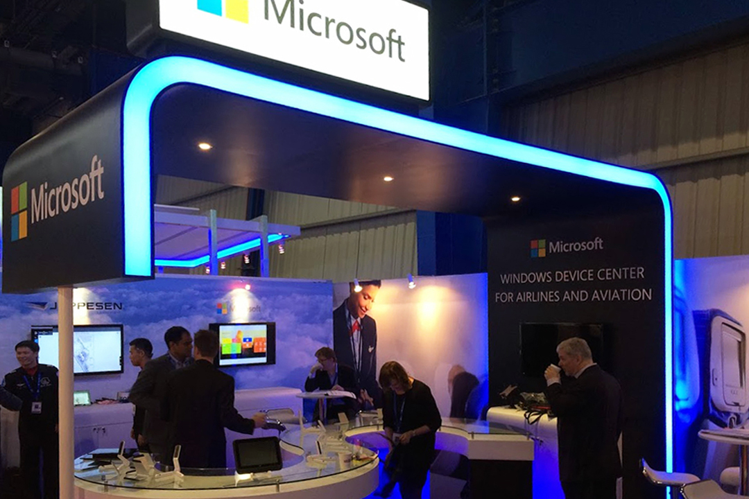 Exhibition Booth Design Singapore : Microsoft booth in singapore air show designbylin
